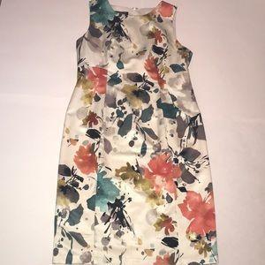 Jones New York Floral Silk Dress